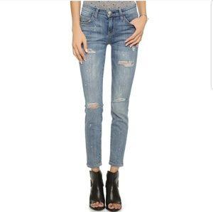 Current Elliott The Stiletto Distressed Jeans